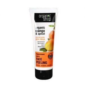 Kem tẩy da chết Organic Shop cho mặt chiết xuất Xoài và Mơ - 75ml