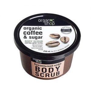 Tẩy da chết toàn thân Organic Shop Coffee Sugar Body Scrub - 250ml