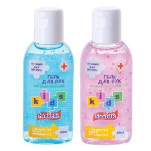 Gel rửa tay khô Sanitelle Kids Nga cho trẻ em