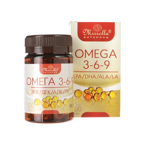 Viên uống Mirrolla Omega 3 6 9 của Nga