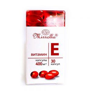 Viên uống Vitamin E đỏ Hàm Lượng 400mg Mirrolla Nga