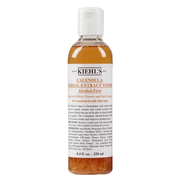 Nước hoa hồng Kiehl's Calendula Herbal Extract Alcohol-Free 250ml của Mỹ được chiết xuất từ hoa cúc trắng vạn thọ giúp cân bằng độ pH của da, làm dịu da,...