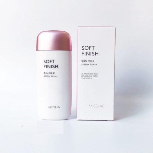 Kem chống nắng Missha Soft Finish Sun Milk SPF 50+/PA\+++