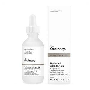 Serum The Ordinary Hyaluronic Acid 2% +B5 Dưỡng ẩm, cấp nước, làm dịu da do kích ứng, se lỗ chân lông. Hyaluronic Acid 2% +B5 là serum water-based (nền nước) với hyaluronic acid và vitamin B5. Sản phẩm này cung cấp dưỡng ẩm cho da, tạo cho làn da một vẻ mịn màng, dẻo dai, căng mọng bằng cách bổ sung độ ẩm cho các lớp da. Sản phẩm này đặc biệt hiệu quả cho lànda thiếu nước, cả da khô lẫn da dầu.