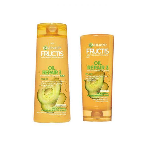 Dầu gội xả Garnier Fructis phục hồi tóc hư tổn