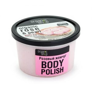 Tẩy tế bào chết Organic Shop toàn thân Pink Pearl - 250 ml