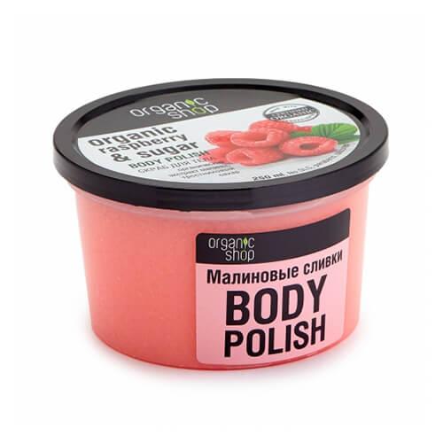 Tẩy tế bào chết mâm xôi Organic Shop toàn thân Raspberry & Sugar – 250 ml